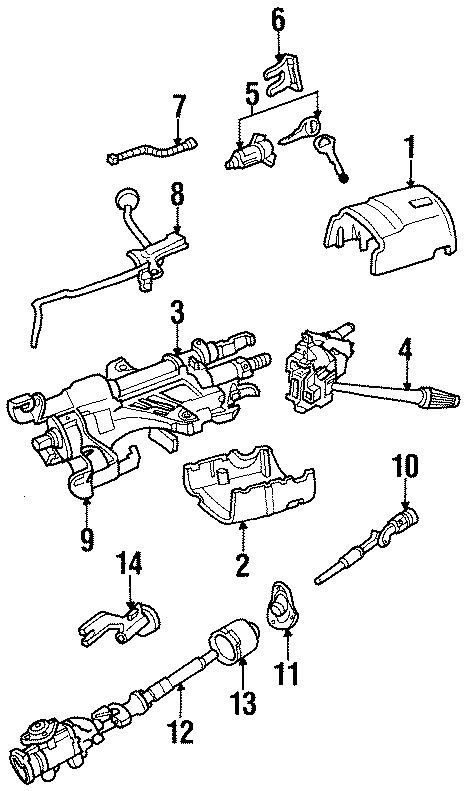 Mazda B4000 Automatic Transmission Manual Control Lever