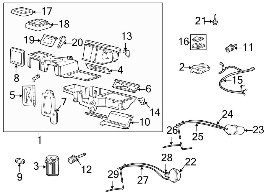 Mazda B4000 Hvac Air Adjustment Control Motor  Right