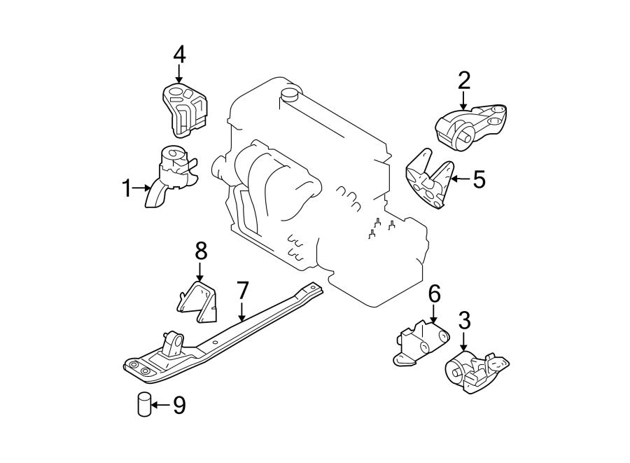 Mazda Tribute Bracket  Mount  Transmission  3 0 Liter  No 2  Engine  Automatic  Manual