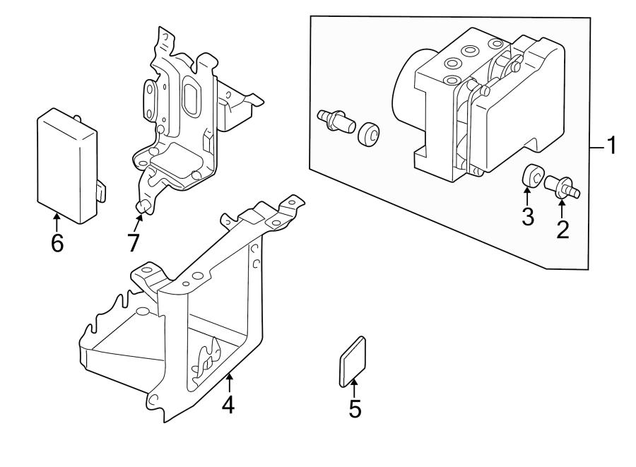 2001 mazda control  bracket  module  1995
