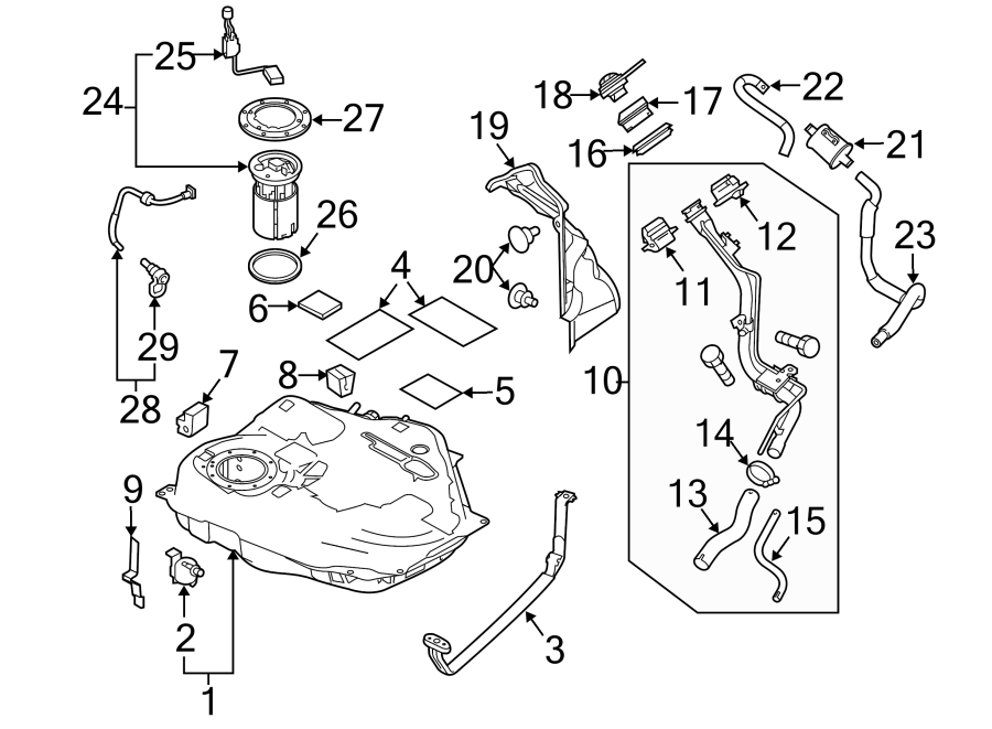 2012 Mazda 3 Fuel Tank Vent Hose  2 0l  U0026 2 5l  2 3l  Tube  Breather