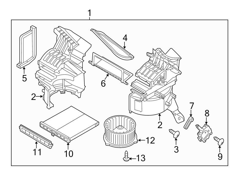 2017 mazda hvac blend door actuator right air blower. Black Bedroom Furniture Sets. Home Design Ideas