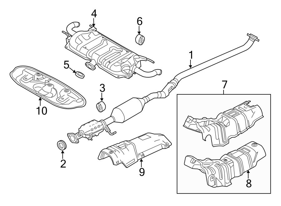 Mazda 3 Catalytic Converter  Converter And Pipe  2 5 Liter  W  Pzev  Mazda3  Rear