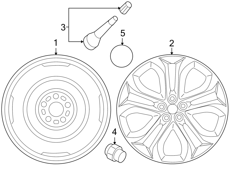 mazda cx-9 wheel cap  center  wheels  susp