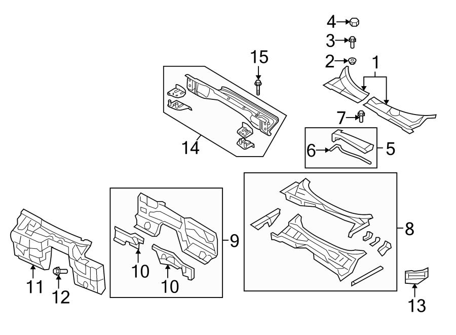 Mazda Mx-5 Miata Cowl Plenum Panel  17 Wheel  Air  Box  Body