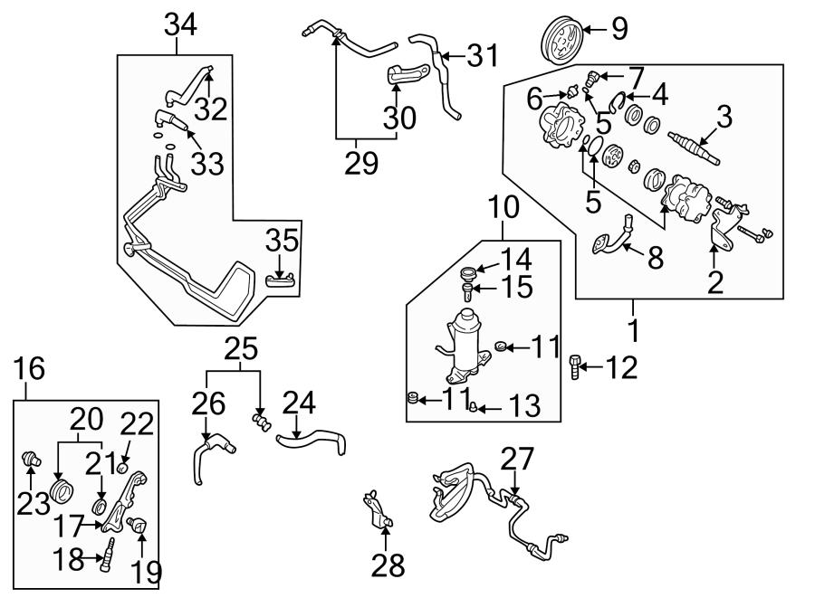 mazda 626 bracket  tensioner  pressure  line  ho  belt