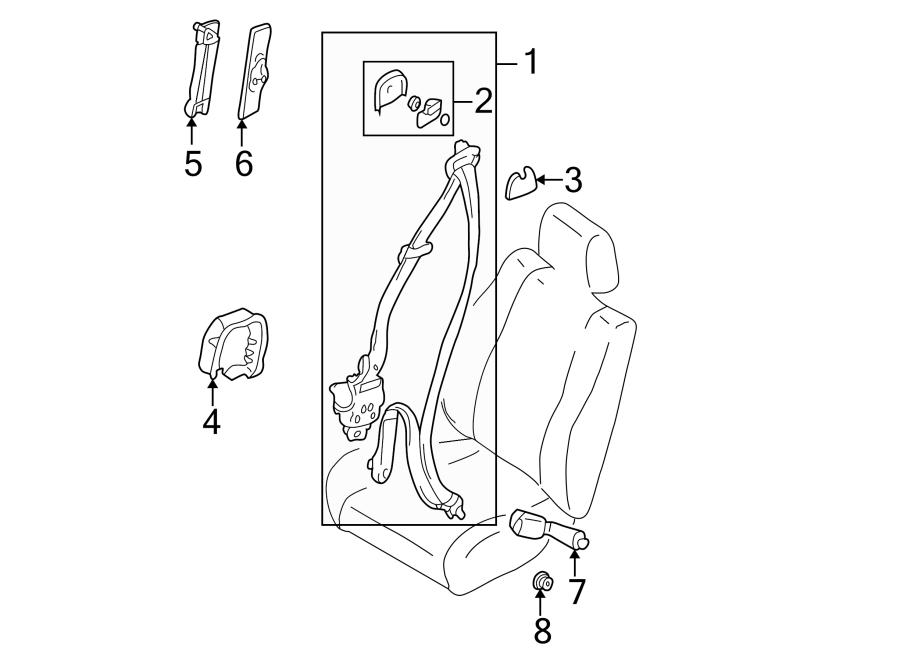 mazda 626 seat belt receptacle  right  front   passenger
