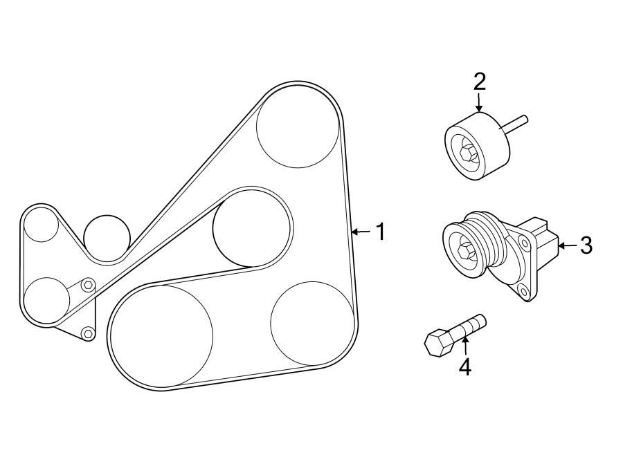 2006 mazda 6 pulleys belts diagram