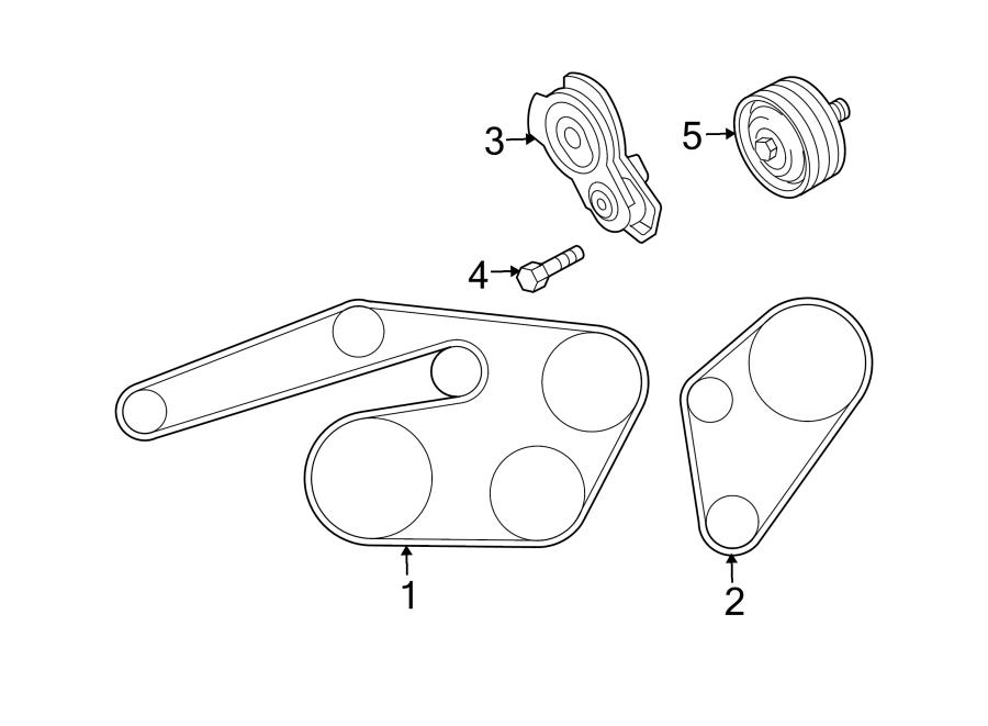 Mazda 6 Belt Tensioner Bolt  Liter  Belts  Pulleys  Cooling