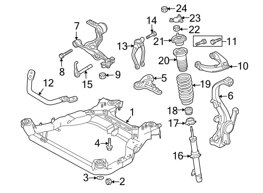 Mazda 6 Engine Cradle Brace  Suspension
