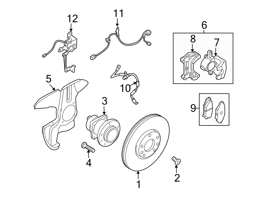2009 mazda abs wheel speed sensor  left  front   stability