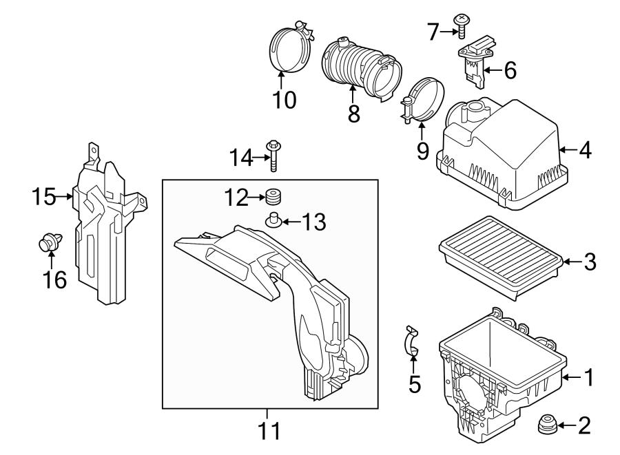 2015 Mazda Air Cleaner Cover  2 5 Liter  2 5 Liter  Manual
