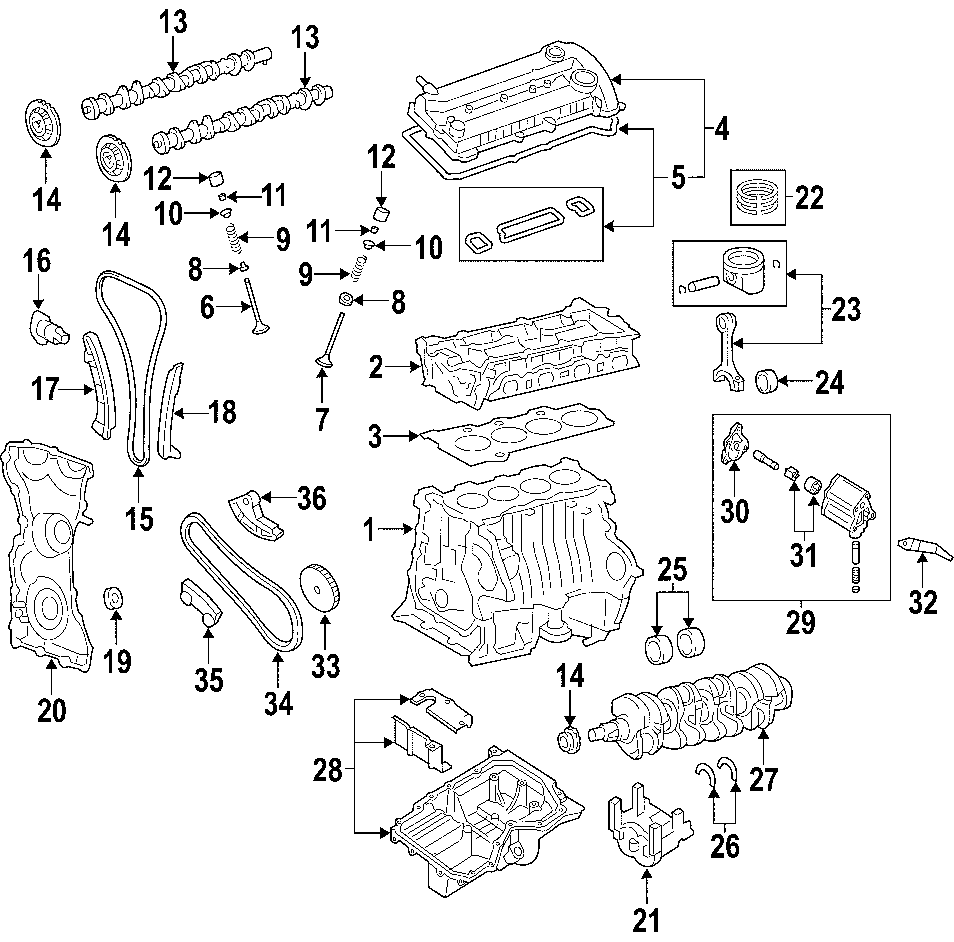 2004 Mazda 6 2 3l M  T Actuator  Engine Timing Camshaft