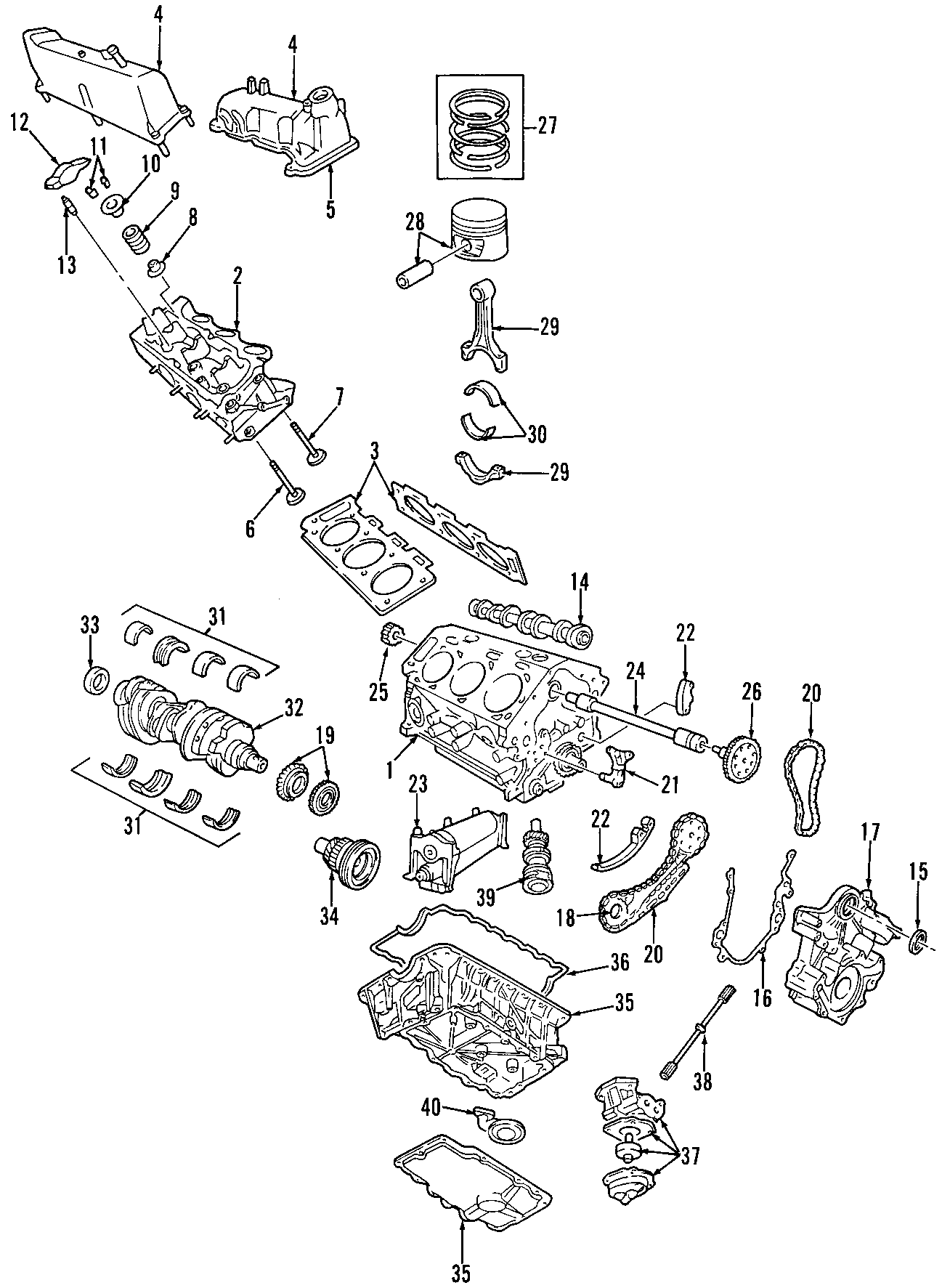 2004 Mazda Engine Balance Shaft Chain Guide  4 0 Liter