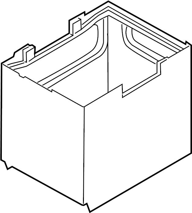 2014 mazda battery cover  box  battery  insulator  japan