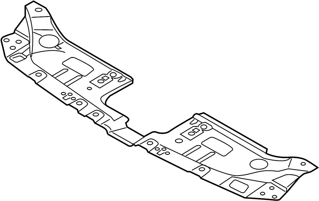 2016 Mazda Cx 5 2 5l A T Awd Radiator Support Access Cover Radiator Support Splash Shield Cap